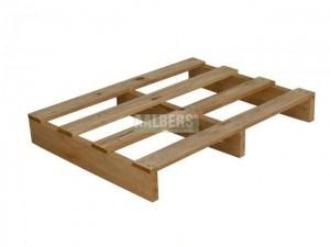 Pallet 80x60 cm 2 weg, bovendek 4 planken