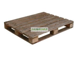 Pallet 120×100 cm 4 weg, zwaar, omlopend onderdek, gebruikt