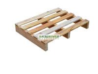 Pallet 80×60 cm 2 weg, bovendek 5 planken, nieuw