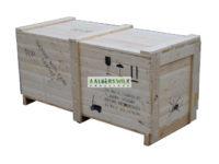 Zeewaardige kist, aan 2 kanten inrijdbaar door pompwagen of heftruck