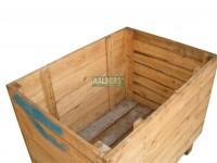 kist afm. inw. 105x76x70 mm, gebruikt, binnenkant