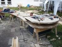 tafel van hout assemblage