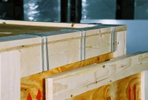 Klimp® fastener, placed on a box